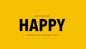 "The stunning 24 video for Pharrell Williams Oscar nominated ""Happy"" http://24hoursofhappy.com/"