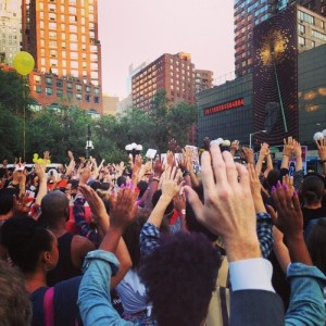 New Yorkers Protesting The Murder Of Mike Brown